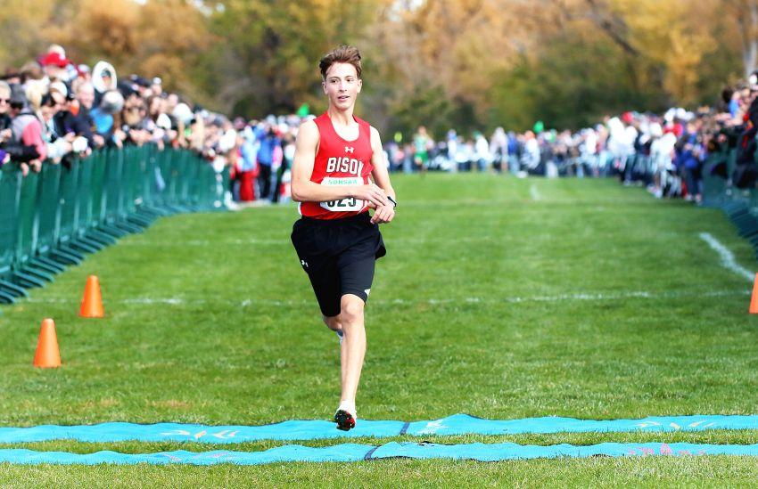 Boys state cross-country roundup: Bison's Lane Krautschun earns Class B boys title